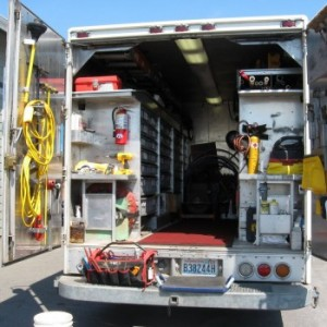 Inside a Robison truck