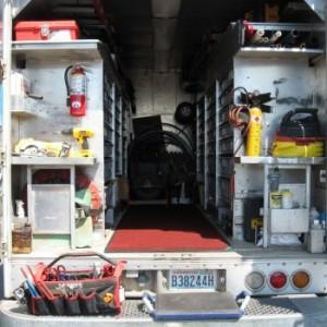 Robison truck interior